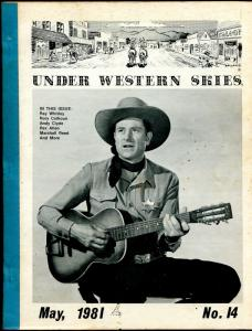 Under Western Skies #14 5/1981-Ray Whitley-Rex Allen-B-Westerns-FR/G