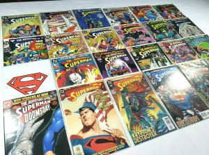Adventures of Superman 24 issue Mixed Lot DC Comics 1989-2004 w/ Keys & Annuals