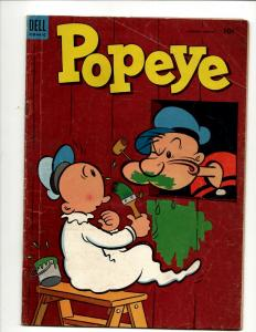 Popeye # 27 VG Dell Silver Age Comic Book Olive Oil Cartoon Spinach J371