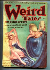 Weird Tales April 1936- Brundage cover- Weird Menace-Pulp Magazine