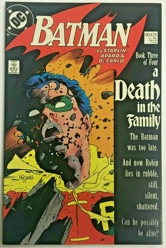 BATMAN#428 VF/NM 1989 'A DEATH IN THE FAMILY' DC COMICS