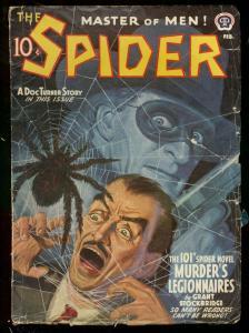 THE SPIDER FEB 1942 DOC TURNER STORY STOCKBRIDGE PULP G/VG