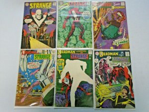 Strange Adventures Deadman Comic Lot 6 Different Average 3.0-4.0 (1967-1968)