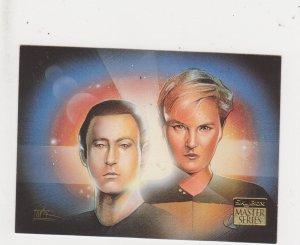 1993 Skybox Star Trek Master Series #35 Data and Yasha Yar