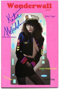WONDERWALL #1, VF+, Bettie Betty Page, Signed by Katie McFadden, 1993