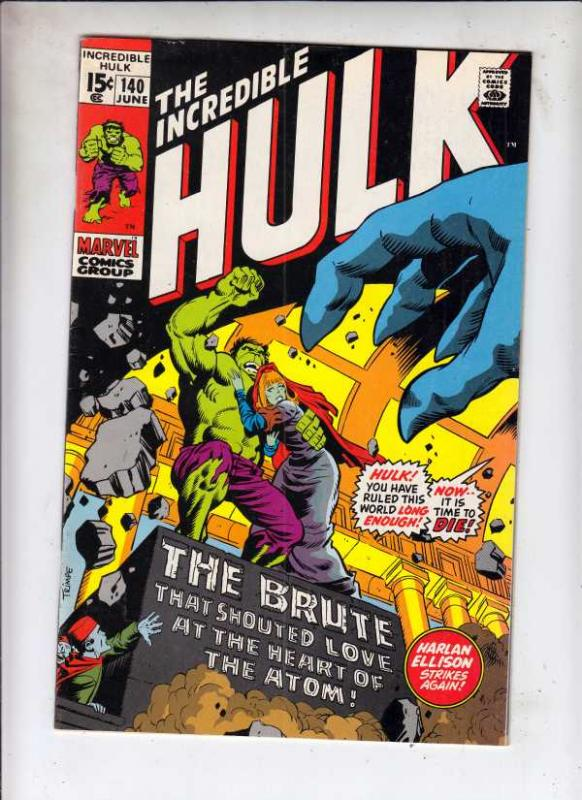 Incredible Hulk #140 (Jun-71) VF High-Grade Hulk