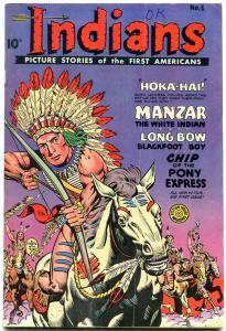 INDIANS  #1-1950-MANZAR-LONG BOW-Golden Age Fiction House VG+