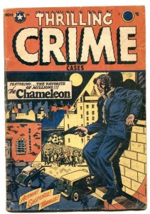 Thrilling Crime Cases #43 1952- LB COLE cover- Golden Age G/VG