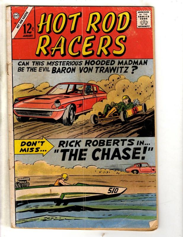Hod Rod Racers # 12 VG Charlton Comic Book Rick Roberst The Chase FH2