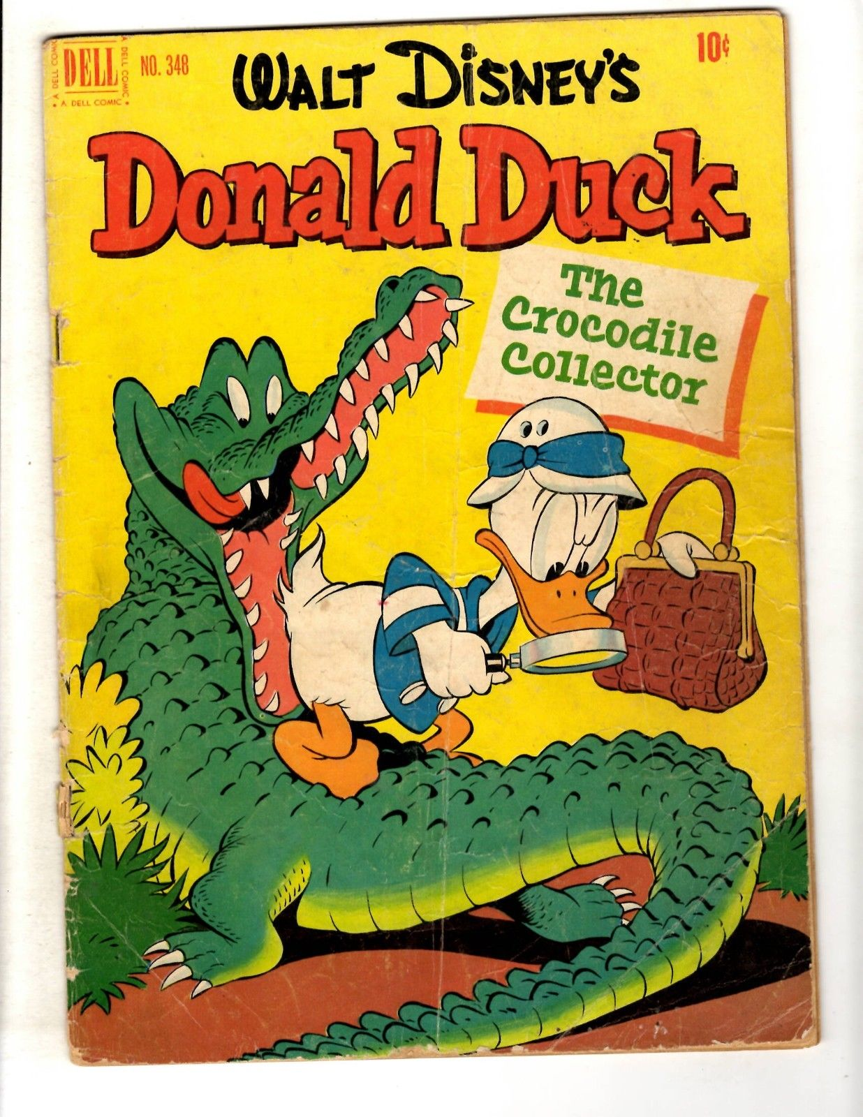Four Color # 348 VG Dell Golden Age Comic Book Donald Duck