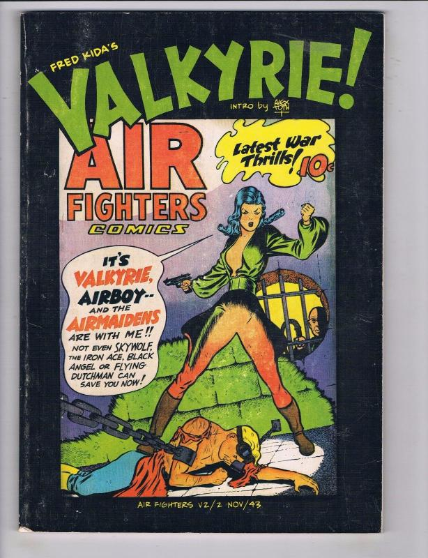Fred Kida's Valkyrie # 1 Air Fighters Comics Intro By Alex Toth Airboy 1982 J55