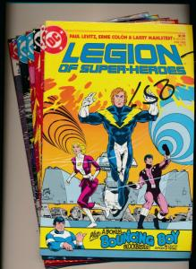 DC LOT OF 6- LEGION OF SUPER-HEROES #11,13,15,16,19(1985), #19,22(1986)(PF362)