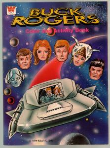 Buck Rogers Color & Activity Book #1254 1979-space ship cover-unused-VF
