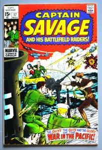 Captain Savage (1968) #17  F/Better