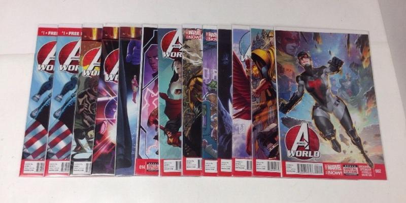 Avengers World 2 6-11 14 17 19 20 11 Book Near Mint Lot Set Run