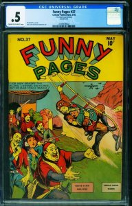 Funny Pages #37 CGC .5 1940-Rare Comic Book-Centaur 2109539002
