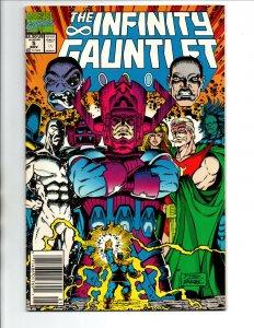 Infinity Gauntlet #5 newsstand - Avengers - Thanos - Galactus - KEY - VF/NM