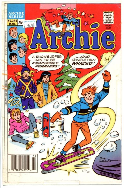 Archie Comics  #346 Printed Proof Color Transparency Overlay-DeCarlo-3 color-FN