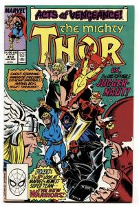 THOR #412 comic book First NEW WARRIORS cover app-Marvel 1989