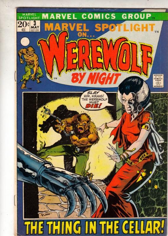 Marvel Spotlight on Werewolf by Night #3 (May-72) VF High-Grade Werewolf