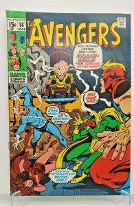 AVENGERS 1971 (MARVEL) #86 Thor, Brain Child  VF/NM