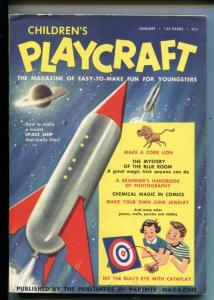 CHILDREN'S PLAYCRAFT #1-01/1954-COMICS-PUZZLES-CRAFTS-ROCKET-SOUTHERN STATES-vg