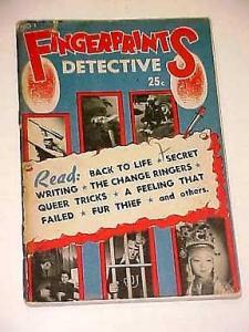 FINGERPRINTS DETECTIVE-#1-1940'S VG