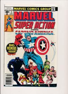 MARVEL SUPER ACTION #1 Captain America 1977  FN/VF  (HX589)