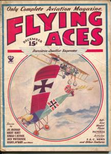 Flying Aces 12/1933-2nd issue format change-Philp Strange-hero pulp-VG