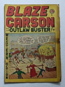 Blaze Carson #4 (Mar 1949, Timely) Good- 1.8 Two Gun Kid appearance