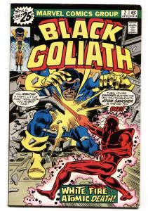 BLACK GOLIATH #2 comic book-1976-TUSKA ART-MARVEL