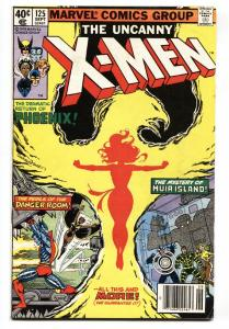 X-MEN #125 comic book PHOENIX COVER-MUTANT X-FN/VF