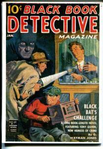 Black Book Detective 1/1940-reprint-Hanos-5 X &-Black Bat's Challenge-VF