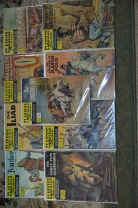 Classic Illustrated  9 Issue lot.