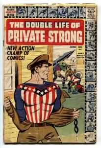 Double Life of Private Strong #1 1959-1st issue-Shield origin-Simon & Kirby-G