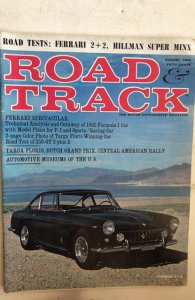 Road and track August 1962 NM, C all my 1960's mags!