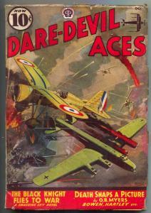 Dare-devil Aces Pulp October 1938- Black Knight Flies to War