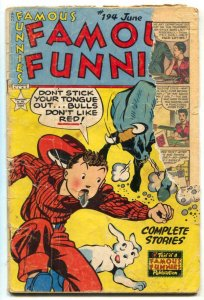 Famous Funnies #194 1951- low grade reading copy