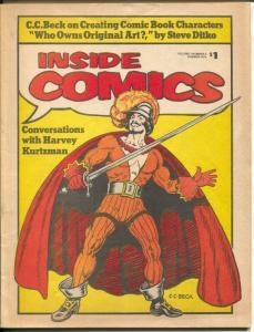 Inside Comics #2 1974-CC Beck-Steve Ditko-David T Alexander-mini-cons-VF