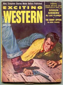 Exciting Western Pulp January 1953- Sixgun Sinners- Tortilla Joe FN