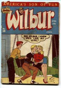 WILBUR #18-Spicy cover-1948-ARCHIE COMICS-GOLDEN AGE COMIC