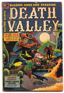 Death Valley #2 1953- bloody shovel attack cover- DON HECK vg