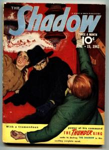 SHADOW 1941 Jun 15-Great cover- STREET AND SMITH-RARE PULP vg+