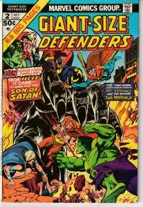 Giant Size Defenders # 2 Hulk,Dr. Strange,Namor,Valkyrie,Nighthawk !