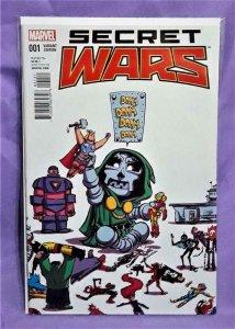 Jonathan Hickman SECRET WARS #1 Skottie Young Baby Variant Cover (Marvel, 2015)!