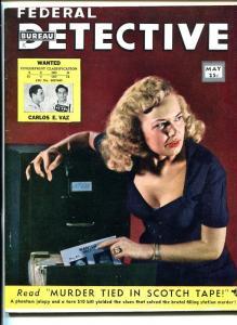FEDERAL BUREAU  DETECTIVE #1 MAY 1950-PULP-CRIME-SOUTHERN STATES PEDIGREE-vf