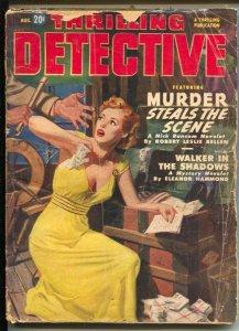 Thrilling Detective 8/1950-GGA cover-Robert Leslie Bellem-pulp crime-G/VG