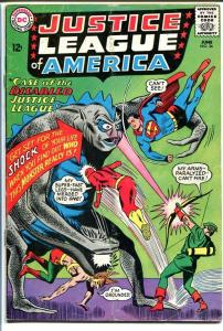 JUSTICE LEAGUE OF AMERICA #36-WILD MONSTER-DC COMICS VG