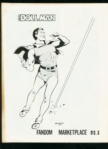 FANDOM MARKETPLACE #3 1973-BILL BLACK-DOLL MAN-HORROR STORY FN