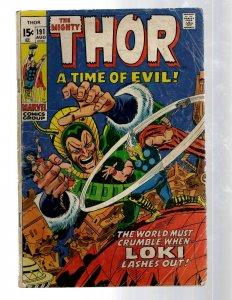 Mighty Thor # 191 VG Marvel Comic Book Loki Odin Asgard Sif Avengers Hulk RB8